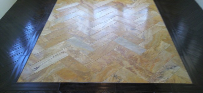 Herringbone Floor Installation