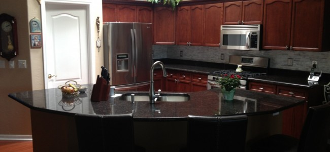 Kitchen Countertop and Cabinets Installation