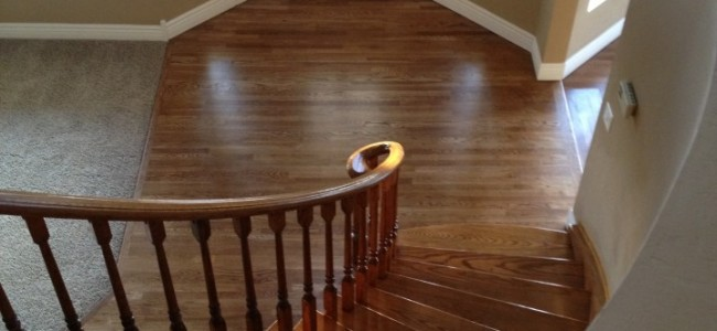 House Refinish with Oak Walnut Floors