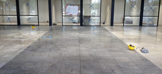 Showroom Tiles Installation